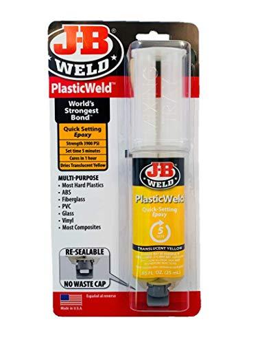 J-B Weld 50132 PlasticWeld Quick-Setting Epoxy Syringe