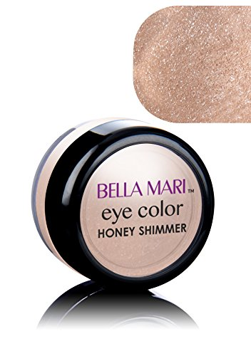 Bella Mari Natural Mineral Eyeshadow, Honey (Shimmer); (Eye Shadow Mineral Powder)