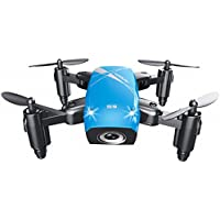 Hot Sales Memela(TM)Mini RC Helicopter Drone 2.4GHz 6-Axis Gyro headless mode Quadcopter brushless Foldable Pocket Drone Good Choice for Drone Training (Blue)
