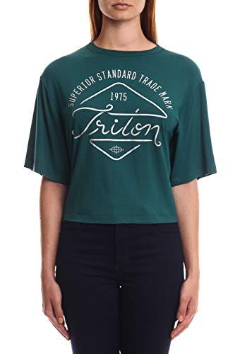 Triton Camiseta Estampada Feminino, P, Verde
