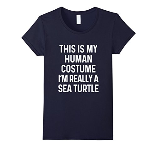 Womens Funny Sea Turtle Costume Shirt Halloween Men Women Kid Adult XL Navy
