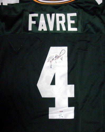 Green Bay Brett Favre Autographed Green Mitchell & Ness Jersey Size 48 PSA/DNA Stock #33496