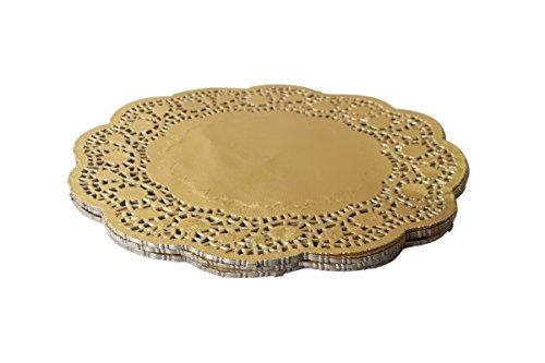 Foil Doilies (Geeklife Gold Foil Lace Doilies , 60 Pcs Paper Doilies , 10 Inches)