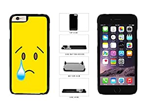 Bright Yellow Sad with Tear Face Plastic Phone Case Back Cover Apple iPhone 6 Plus (5.5 inches) wangjiang maoyi by lolosakes