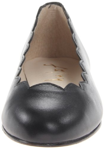 Leather Flats Womens Ballet Closed French Jigsaw Sole Black Toe qA1ZtHx