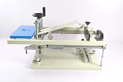TechTongda Manual Cylinderical Screen Printing Press Pen Mug Bottle Printer Cylinder Screen Printing Machine by Screen Printing Equipment