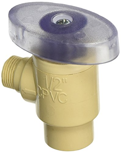 King Brothers Inc. CAV-0500-38C 1/2-Inch Slip by 3/8-Inch Compression PXL CPVC Quarter Turn Angle Supply Valve, (Cavs Store)