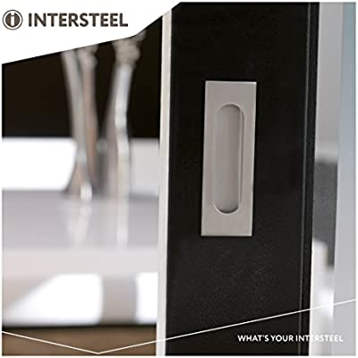 intersteel 120 x 40 mm Tirador de acero inoxidable satinado ...
