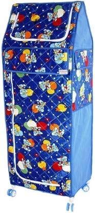 Abasr PP  Polypropylene  Collapsible Wardrobe  Finish Color   Blue