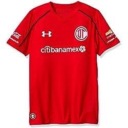 Jersey aficionado para Niño Toluca local - Under Armour, 1297623-604, Rojo, XS (Extra Chico)