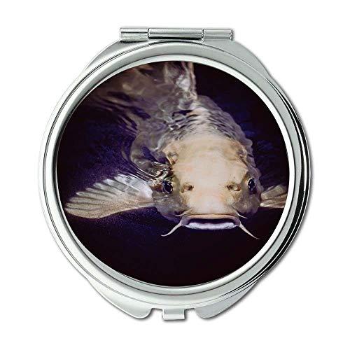 Mirror,Travel Mirror,animal catfish fish,pocket mirror,portable ()