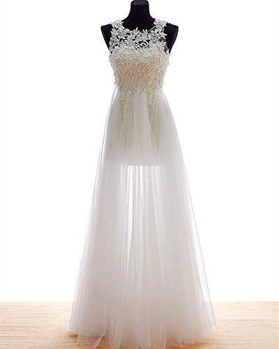 (wedding dress High quality handmade sheer transparent pearls floor length beach gauze wedding gowns Sexy lace)