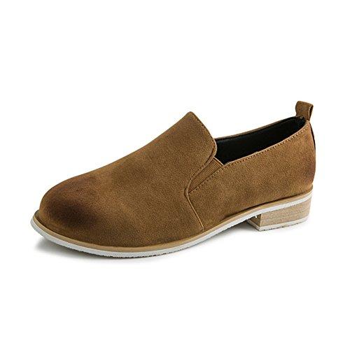UK aire retro baja cepille con zapatos/Casual estudiante sistemas pie asakuchi moda fondo plano madera zapatos A