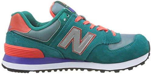 Nuovo Equilibrio Damen Wl574v1 Sneaker Mehrfarbig (verde / Arancione)