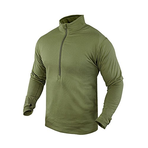 Condor BASE II Zip Pullover (Large, Olive Drab) Outdoor Olive