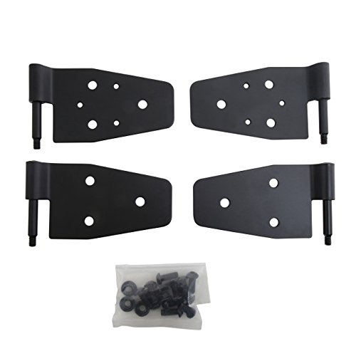 Smittybilt 7641 Black Door Hinges for Half Steel Doors, Set of 4, Black, for 1987-2006 Jeep Wrangler TJ/YJ/LJ (Windshield Hinge Wrangler Jeep)