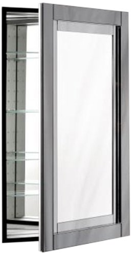 Robern CB-MP24D4CDGN Candre Medicine Cabinet, Tinted Grey