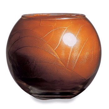 Northern Lights Candles Esque Polished Globe - 4 inch Terra Cotta