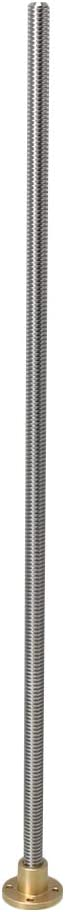 Yibuy 450mm Length 10mm Dia Trapezoidal Lead Screw Rod and Nut 2mm Lead Thread
