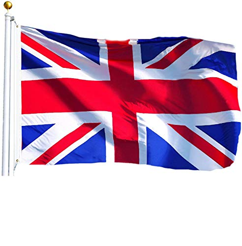 (G128 - United Kingdom Flag (British, Union Jack) | 3x5 feet | Printed - Vibrant Colors, Brass Grommets, Quality Polyester)