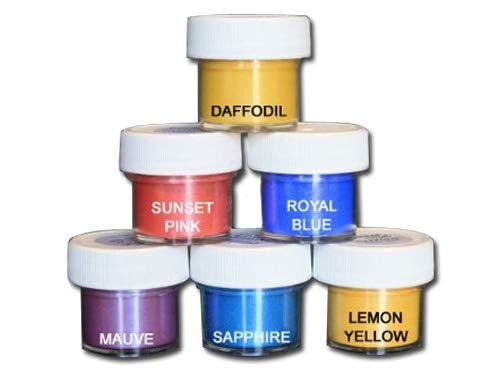 Luster Dust Set of 6 Daffodil/Sunset/Royal/Mauve/Sapphire/Lemon ()
