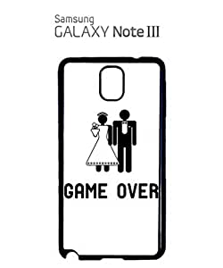 Game Over Wedding Joke Mobile Cell Phone Case Samsung Note 3 Black by hollowden