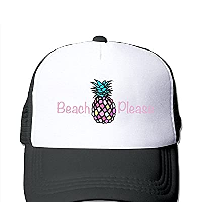 JingleZ Pineapple Beach Please Funny Cute Trucker Mesh Adjustbale Baseball Hat Cap