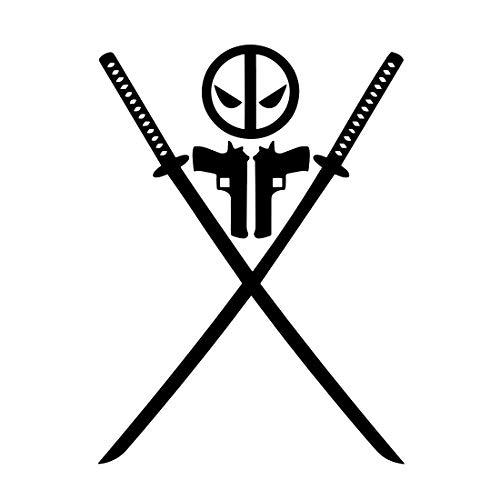 Bargain Max Decals - Symbol Cross Swords 1 Sticker Decal Notebook Car Laptop 6 (Black)