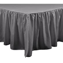 Brielle Stream Bed Skirt, King, Grey