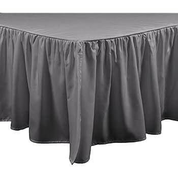 Amazon Com Ruffled Bed Skirt With Split Corners Three