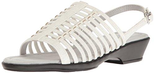 Easy Street Women Allure Huarache Sandal White/Metallic Print