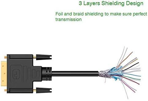HDMI-DVI-Dアダプターケーブルオス-オスDVI 24 + 1ピン1080Pビデオコンバーター(DVD HDTV XBOX PS3 PS4プロジェクター用) (0.3M)