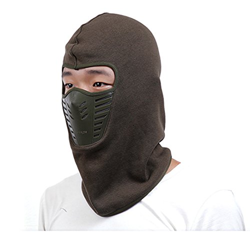 Green Cappello - Laiyuan Hat Hooded Face Mask Winter Hats For Men And Women (army green)