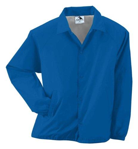 - Augusta Sportswear Mens Nylon Coach's Jacket Lined Royal XXXX-Large