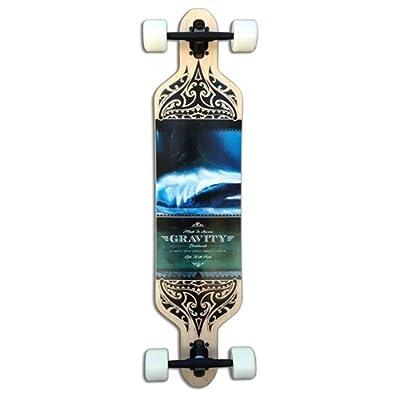 Gravity Drop Carve 41 Olas Azules 9.5x41 Complete Longboard Skateboard
