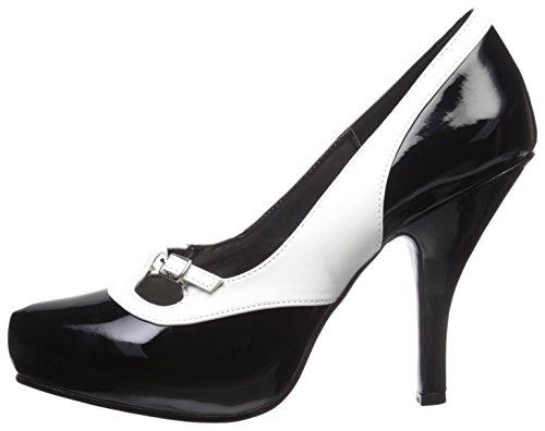 donna donna donna tacco Pinup bianco Nero nero col Couture Scarpe Scarpe Scarpe 7nPRO