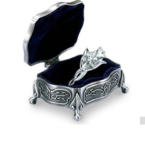 OK-STORE the Lord of the Rings Arwen Evenstar 925 Sterling Silver Pendant and Metal Jewelry Box ¡]()