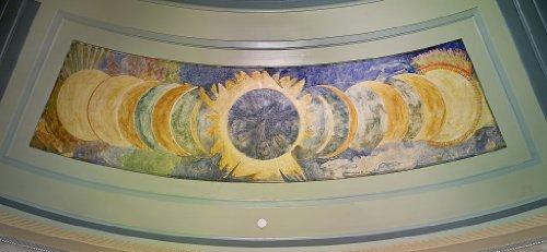 Vintography 8 x 12 Photo Oil Painting Solar Eclipse Located on Second Floor rotunda Ceiling, U.S. Custom House, Philadelphia, Pennsylvania a2947 by Vintography