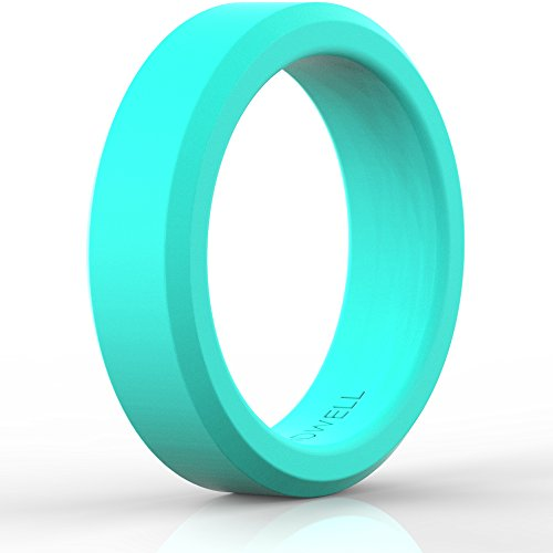 BEST SILICONE WEDDING RING FOR WOMEN (Teal)