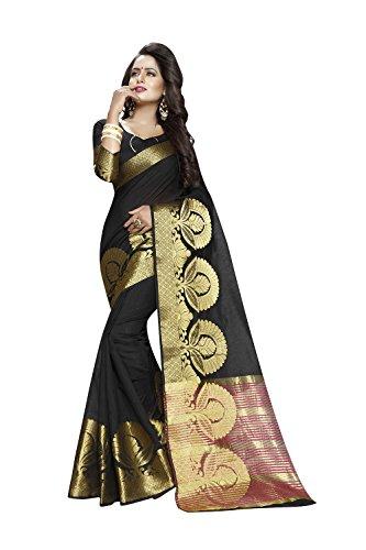 Da Facioun Indian Sarees For Women Wedding Black Designer Party Wear Traditional Sari by Da Facioun