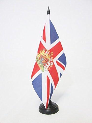 AZ FLAG Bandera de Mesa del Reino Unido con Armas 21x14cm ...