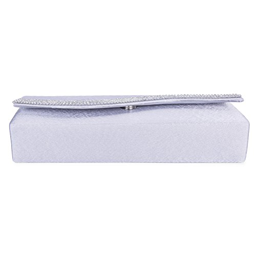 bags Party Clutch Silver Purse Vintage Exquisite Bridal Evening Chichitop Embroidered Floral Women's qf0Hwa8