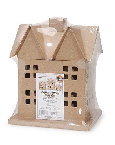 (Darice 3 Piece Paper Mache House Box)