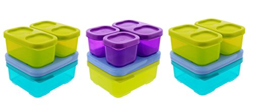 Rubbermaid Lunch Blox Sandwich Kits w/ Side and Snack Containers - 3 Kits