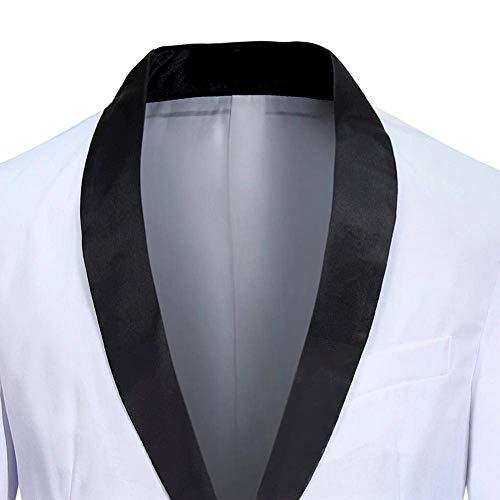 Outwear Lunghe Uomo Bianca Maniche Giacca Slim Cappotto Casual Primavera Revel Fit Lavoro A Yasminey Tinta Autunno Blazer Giovane Button Unita Da THwfEp