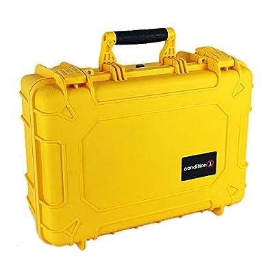 Image of Condition 1 18' Medium #801 Yellow Waterproof Hard Case with DIY Customizable Foam Electronics & Gadgets