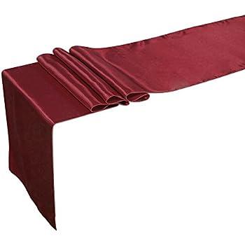 Merveilleux Lingu0027s Moment 12 X 108 Inch Satin Table Runner Maroon, Burgundy, Dark Red,