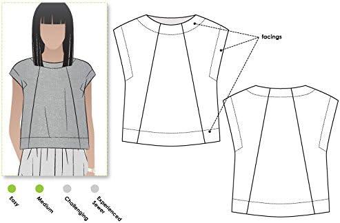 Amazon.com: Style Arc Sewing Pattern - Ethel Designer Top (Sizes 18 ...