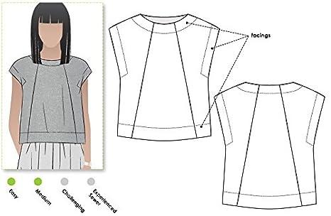 Designer Style Arc Schnittmuster Ethel Top, Sizes 04-16: Amazon.de ...