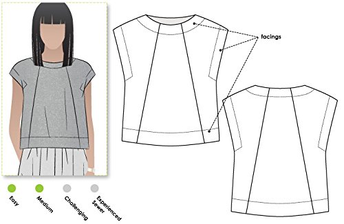 Style Arc Sewing Pattern - Ethel Designer Top